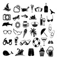 letnje ikone1 vector image vector image