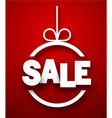 Sale paper christmas bauble vector image