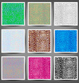 Set of seamless leopard prints vector image