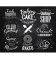 Bakery characters chalk vector image