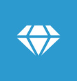 diamond icon white on the blue background vector image