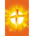easter jesus cross background 2 vector image