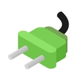 Electric plug isometric 3d icon vector image