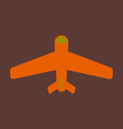icon in flat design aircraft vector image