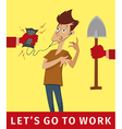 lets go to work vector image