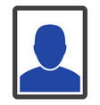 man portrait flat icon vector image