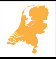 netherlands map vector image