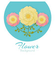 paper flowers background with exotic flowers pink vector image