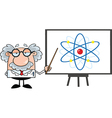 Scientist cartoon vector image