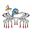 Bloody Teeth Pirate Zombie vector image