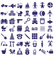 Toys icons on white vector image