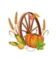 Wheel with Vegetables and Stalks vector image