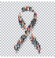ribbon man people sign 3d vector image