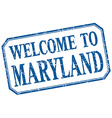 Maryland - welcome blue vintage isolated label vector image