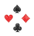 Collection of playing card symbols vector image