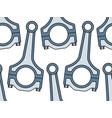 connecting rod pattern vector image