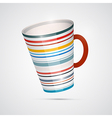 Cup Isolated on White Background vector image