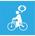 man silhouette riding bike design vector image