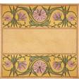 old paper floral frame vector image