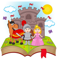 open book with fairy tale vector image