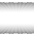 Perspective textured wavy surface vector image