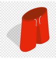 red shorts for swimming isometric icon vector image