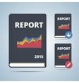 Report Icon Book vector image