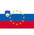 slovenia national flag with a star circle of eu vector image