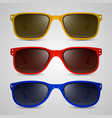 sunglasses color vector image