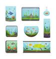 transparent aquarium isolated on white fish vector image
