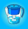 water jug filter pop art vector image