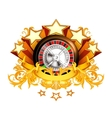 Roulette insignia vector image vector image
