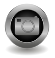 Metallic camera button vector image vector image