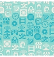 Seamless pattern with web and mobile icons vector image