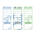 set of tickets vector image