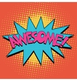 Awesome Comic Book Bubble Text vector image
