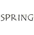 Spring Alphabet vector image