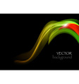 wave dark curve green and red vector image vector image