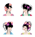 Chinese girls vector image vector image