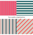 Set of classic seamless striped patterns vector image