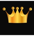 Abstract background with crown vector image