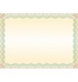 Certificate green brown border landscape vector image