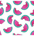 doodle watermelon seamless pattern vector image