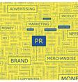 PR Word cloud vector image