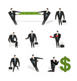 Set businessman situation Figures of man in suit vector image