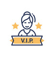 vip person - modern single line icon vector image
