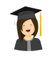 Young happy student girl vector image