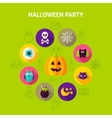 Halloween Party Infographics Concept vector image