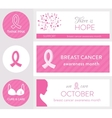 Breast Cancer Awareness Month and Pink Ribbon vector image