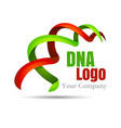 DNA sign Volume Logo Colorful 3d Design Corporate vector image